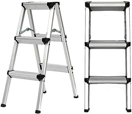 ZHWEI Escalera Plegable De Aluminio Escalera Plegable Paso 2/3/4/5 Paso, Robusta For Trabajo Pesado Escalera Plegable Construcción Robusta (Size : 3StepLadder): Amazon.es: Hogar