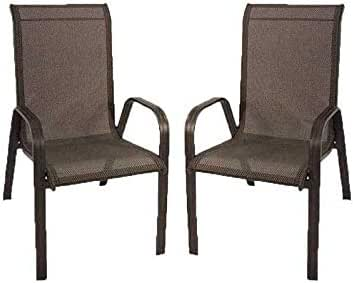 Edenjardi Pack 2 sillones de Exterior apilables, Tamaño: 57x74x96, 5 cm, Aluminio Reforzado Color Antracita, Textilene Color Plata y Negro: Amazon.es: Jardín