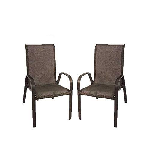 Edenjardi Pack 2 sillones de Exterior apilables, Tamaño ...