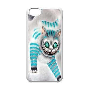 Cheshire Cat Blue iPhone 5C Fashion Case White Kimberly Kurzendoerfer