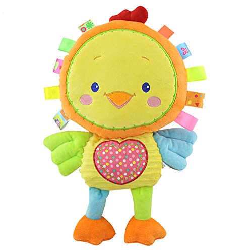 Romote Baby Activity and Teething Toy Cute Animal Rattles Plush Toy Soft Chick Shape Pacifier Toy for Girls and Boys - Chick Style Easter Gift