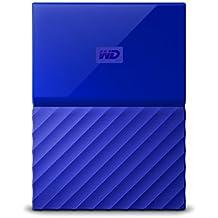 WD 3TB Blue My Passport Portable External Hard Drive - USB 3.0 - WDBYFT0030BBL-WESN