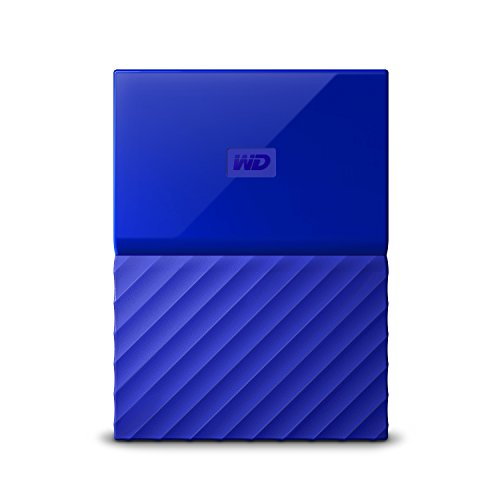 WD 2TB Blue My Passport Portable External Hard Drive – USB 3.0 – WDBS4B0020BBL-WESN