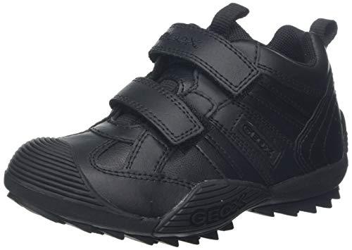 Geox boys Jr Savage 10 Sneaker ,Black Oxford,33 EU (2 M US Little Kid) (Average Shoe Size For 1-5 Year Old)