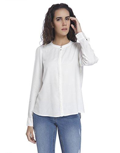 Moda Femme Vero Noos White Snow Shirt Blouse LS Blanc Vmcathy Ov7d6d4WC