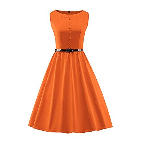 orange 50s dress - 5
