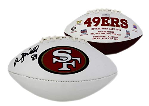 (Wesley Walls Signed Ball - Embroidered - Autographed Footballs)
