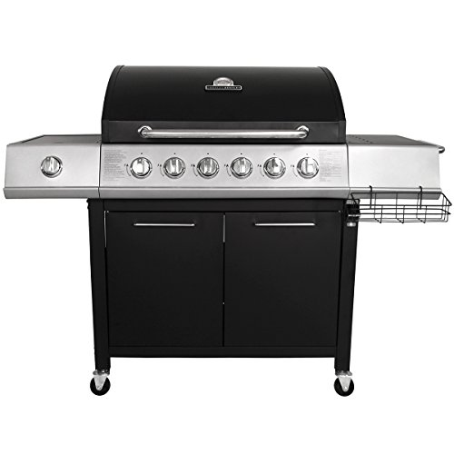 Charles Bentley 7 Burner Premium Gas Bbq Barbecue Side Burner - Black & Grey