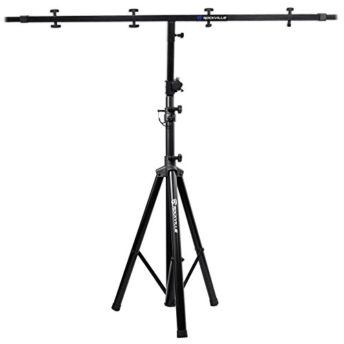 Rockville RVES05 Black Heavy Duty Tripod Pole-Mount Stand +