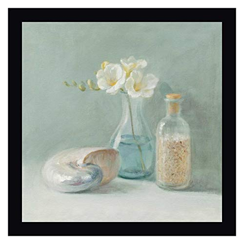 "Freesia Spa by Danhui NAI - 23"" x 23"" Black Framed Giclee Canvas Art Print - Ready to Hang"