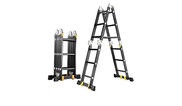 Oipoodde Escalera de extensión Herramienta Plegable de múltiples Funciones de Aluminio Escalera Portátil portátil Decoración de Extensión Loft Escalera telescópica Plegable (Color : A, Size : 9.2M): Amazon.es: Hogar