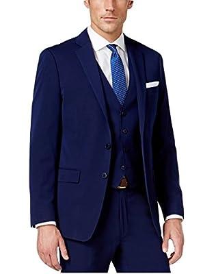Calvin Klein Slim Fit Navy Two Button New Men's Sport Coat (44 Regular)