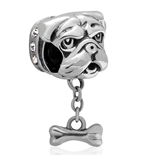 Shar Pei Pug Pet Lover Dog Puppy Paw Family Charm 925 Sterling Silver Bead Fits European Charm Bracelet