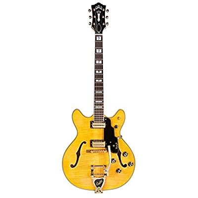Guild Starfire VI with Guild Vibrato Tailpiece Semi-Hollow Body Electric Guitar with Case (Blonde)