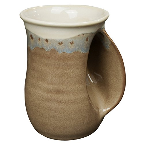 Clay In Motion Handwarmer Mug - Desert Sand Right (Hand Ceramic)