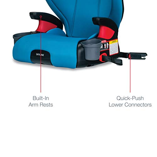 41jWbl6XMGL - Britax Skyline 2-Stage Belt-Positioning Booster Car Seat - Highback And Backless | 2 Layer Impact Protection - 40 To 120 Pounds, Teal