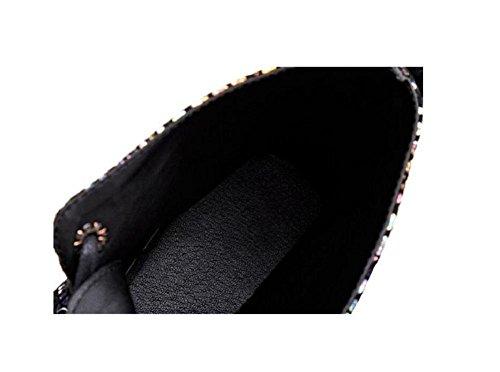 per tendenza stivali 38 di piatta stivali pelle arrotondata Martin della Ankle 38 donna testa PICTURECOLOR inverno picture color in con ragazza Colorato Bootie autunno con scarpe Rwxq4PHRd