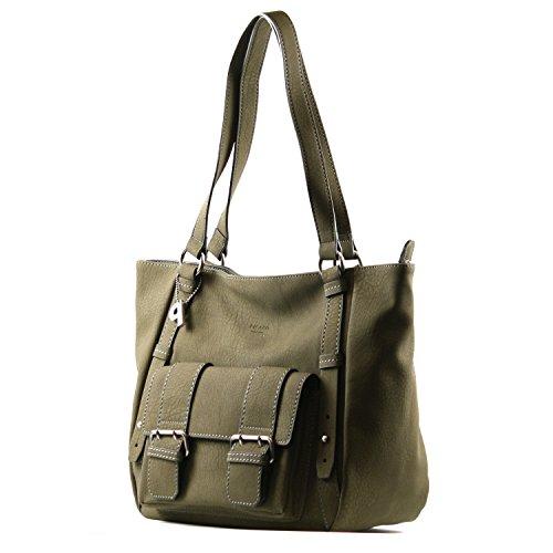 PICARD Splendid 2297 Tasche Shopper Damen Schultertasche 39x29x16 cm (BxHxT), Farbe:Olive Olive