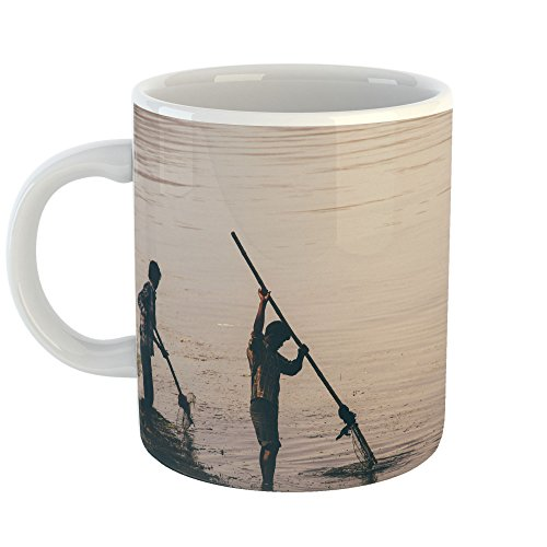 Westlake Art - People Fishing - 11oz Coffee Cup Mug - Modern