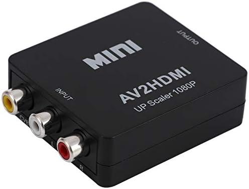 Moligh doll RCA to HD, AV to HD, 1080PミニRCAコンポジットCVBS AV~HD HDビデオ?オーディオ?アダプター PS4 STB VHS VCRカメラDVDゲームプレーヤー用