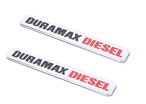 Chrome Truck Emblems - Aimoll 2pcs Duramax Diesel Allison Truck Emblem,for Badges SILVERADO 2500 3500 HD GMC SIERRA (Chrome)