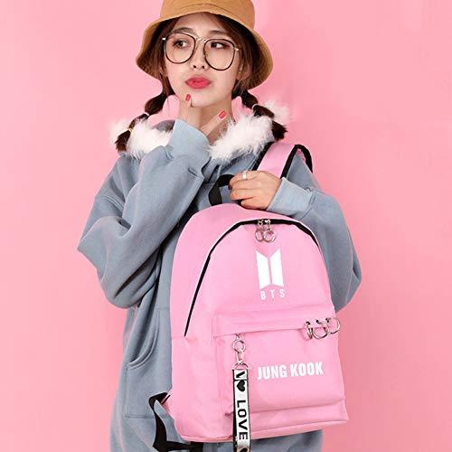 K Bag Ragazzo Borse Bts Pink12 pink1 Zaino Boy Ragazze Nero Sport pop Scout Antiproiettile Gfeiw Moda Viaggi Aq1d1