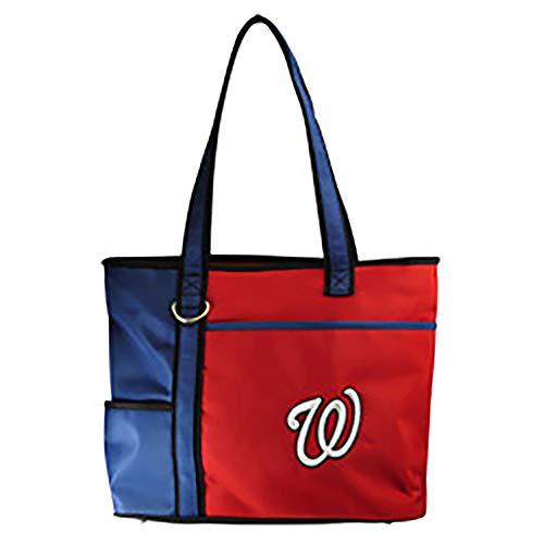 Charm14 MLB Washington Nationals Tote Bag with Embroidered Logo, 13