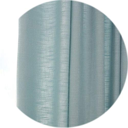 (three thousand Solid Modern Curtains Decorative Door Bedroom Curtains Shade Window Fabric White Sheer Fashion Curtains for Living Room,Blue Thick,W100cm L130cm,1 Rod Pocket)