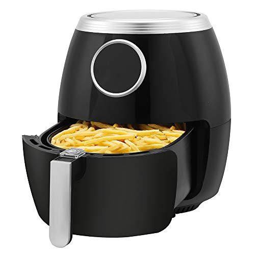Kismile 6 Quart Air Fryer Electric Hot Air Fryer,1500 Watts Healthy Oil-Free Cooker with LCD Digital Panel,Time/Temp…