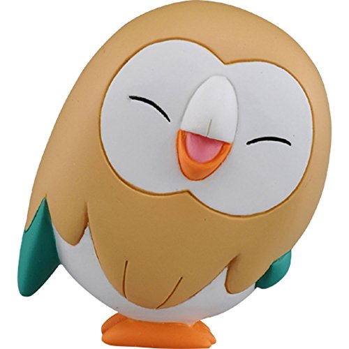 Takaratomy Pokemon Sun & Moon Emc-28 Rowlet Action Figure, 1.5