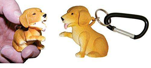 Sun Company Wildlight Animal Carabiner Flashlight | Animal Keychain Lights (Dog (Retriever))