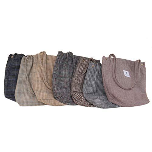 Classic Retro Cotton Woolen Stripes Checked Chic