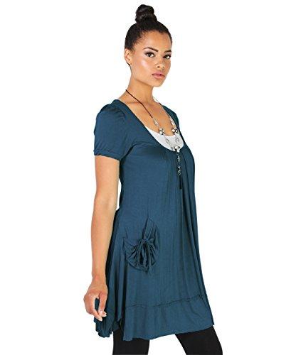 Short Sleeve Tunic Dress (3303-TEA-16.2)
