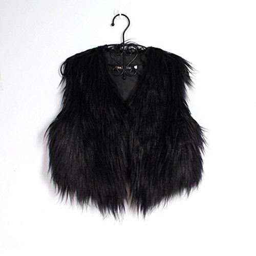 Coat Gilet Shrug Black DAYLIN Fur Faux 1PC Women Jacket Sleeveless Outwear Waistcoat 0x8Rz0qw