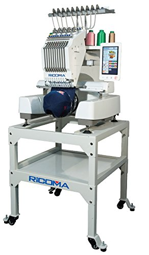 RiCOMA EM-1010 10-Needle Embroidery Machine with Stand & Software by RiCOMA