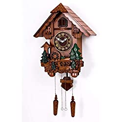Polaris Clocks Cuckoo Clock in German Style with Night Mode Option (Multi Color, Water Mill-1)