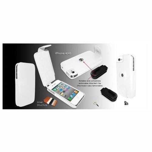 Piel Frama U496W iMagnum Ledertasche mit Magnetverschluss für Apple iPhone 4/4S weiß