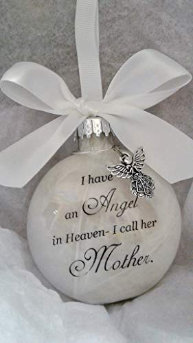 Memorial Christmas Ornament Sympathy Gift - Angel in Heaven I Call Her Mother ()