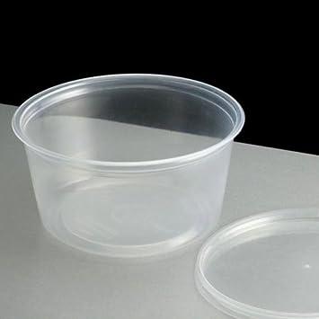 50 X 4oz microondas plásticas limpiar copas con tapas de ...