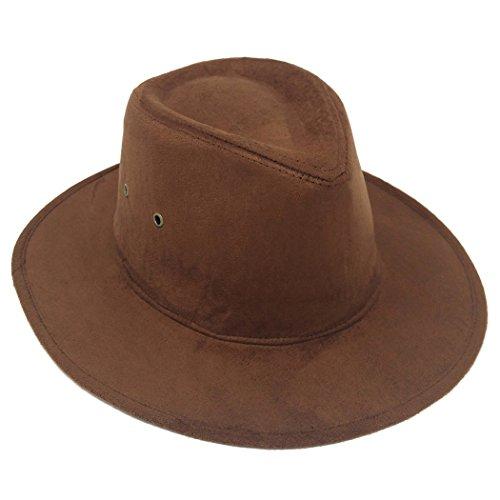 MWS Soft Felt Wide Brimmed Panama Fedora Hat, Unisex Winter Fashion Trilby Cap (Felt Wide Brim Gambler Hat)