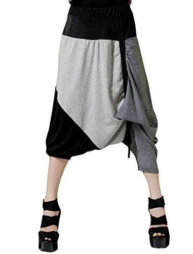 ELLAZHU Baggy Genie Harem Hippie Hip-hop Capri Short Pants Trouser Onesize GY02 (Dancing Machine Mc Hammer)