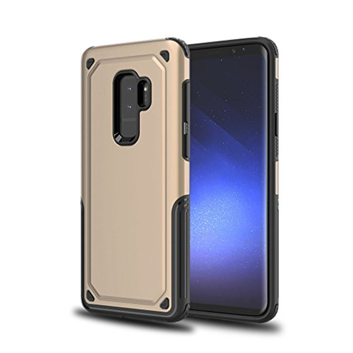 Price comparison product image ANERNAI Galaxy S9Plus Case, Full Body Ultra Slim Shockproof Drop Protection Cover for Samsung Galaxy S9 Plus (Gold)
