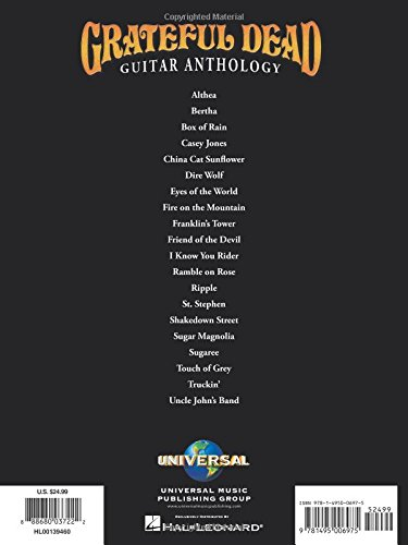 Amazon Grateful Dead Guitar Anthology 0888680037222 Grateful