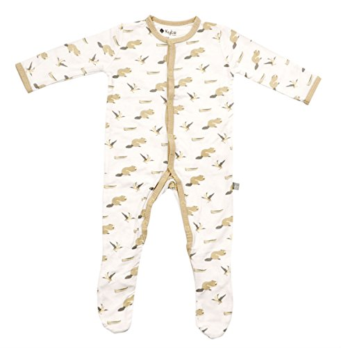 Kyte BABY Footies - Baby Footed Pajamas Made Of Soft Organic Bamboo Material - 0-24 Months - Printed Colors (3-6 Months, Lakeshore)
