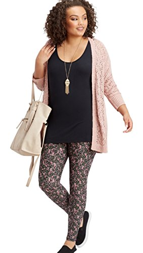 Ditsy Floral Leggings - maurices Women's Plus Size Ultra Soft Ditsy Floral Legging 2 Black Combo