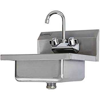 Amazoncom Commercial Stainless Steel Wall Mount Hand Washing Sink - Commercial bathroom sinks stainless steel