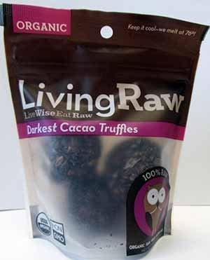 Living Raw Organic Darkest Cacao Truffles 1.64 Oz (12 Pack)