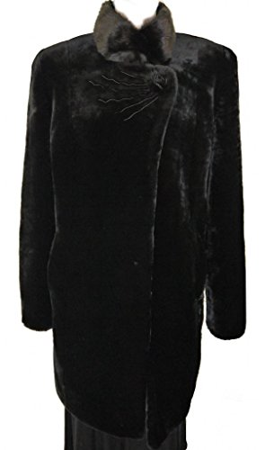 Special Mouton Lamb Fur Coat With Mink (Mouton Fur Coat)