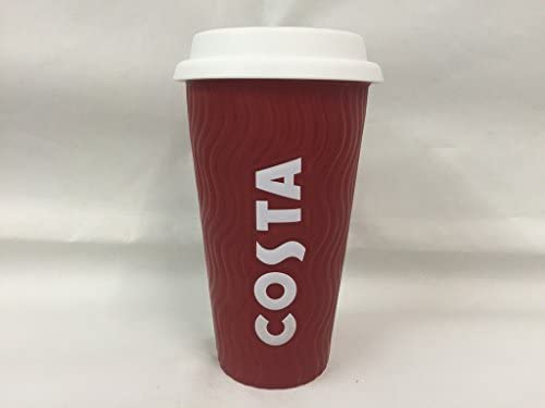 Costa Ceramic Travel Mug With Silicone Lid On The Go Cup 400ml By Costa Coffee