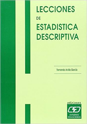 Lecciones de estadística descriptiva